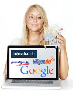Deutsche Preisvergleichsseiten im Internet