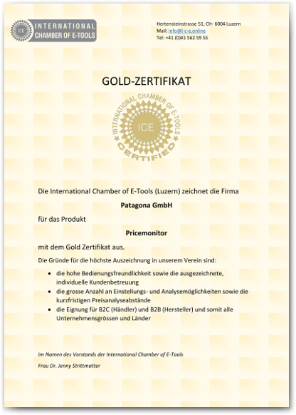 ICE-International-Chamber-of-E-Tools-Gold-Zertifikat-Patagona-Pricemonito
