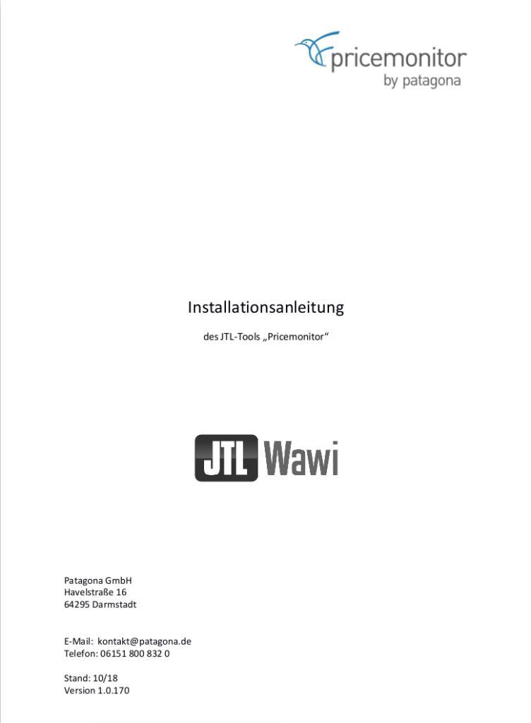 Installationsanleitung JTL Pricemonitor Tool