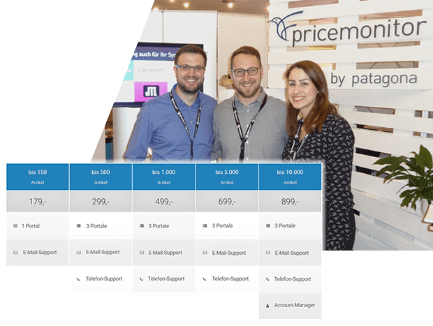 Pricemonitor Service-Pakete - so viel kostet Repricing