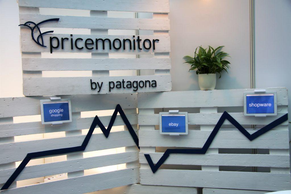 Der Pricemonitor von Patagona ist im neuen Messedesign mit einem Graphen visualisiert.