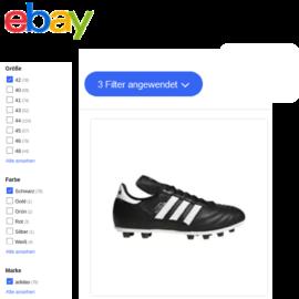 Der neue Aspects-Filter für eBay